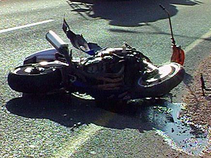 תאונת אופנוע, ארכיון (צילום: חדשות 2)