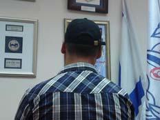 הסוכן הסמוי, הבוקר בתדריך המשטרתי (צילום: עזרי עמרם, חדשות 2)