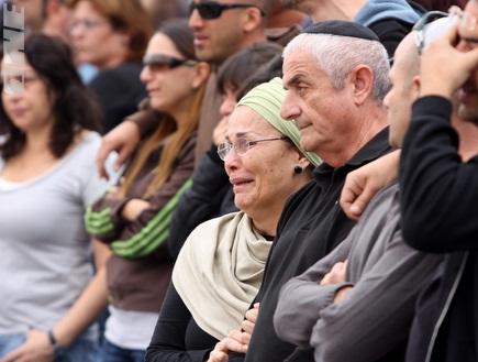 """הקהל ממרר בבכי באצטדיון ר&""""ג (יניב גונן) (צילום: מערכת ONE)"""