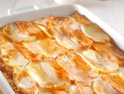פשטידת תפוחי אדמה ובטטה דלת קלוריות (צילום: שי אפגין,  יחסי ציבור )