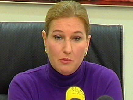 לבני. גילתה על המעצר מאמצעי התקשורת (צילום: חדשות 2)