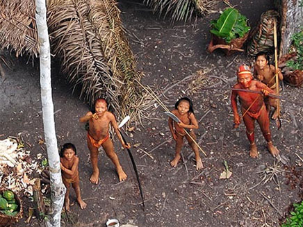 השבט שנחשף באמזונס (צילום: FUNAI)