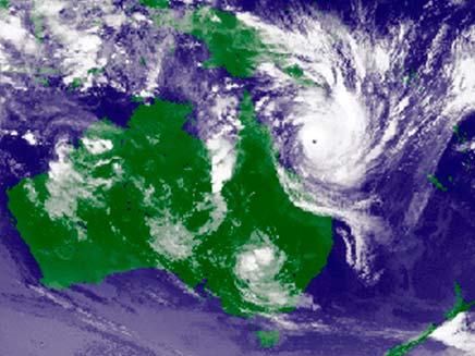 מפה סינופטית, סופת ציקלון אוסטרליה (צילום: חדשות 2)