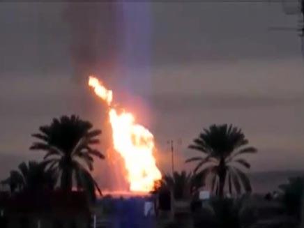 אחת הפגיעות בצינור הגז במצרים, השנה (צילום: חדשות 2)