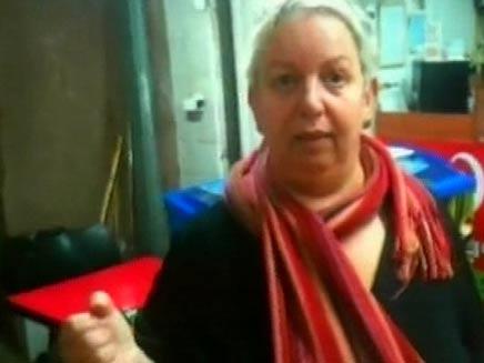 השתלטה על שודד (צילום: חדשות 2)