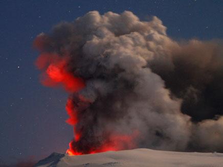 התפרצות הר געש באיסלנד (צילום: רויטרס)