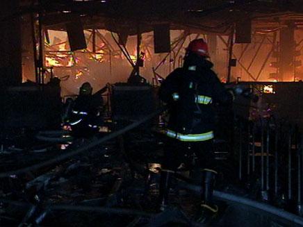 סניף איקאה בנתניה בזמן השריפה - מבט מבפנים (צילום: חדשות 2)