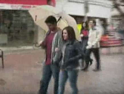 עידן עמדי ודיאנה גולבי מצלמים קליפ