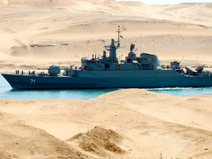 הספינה האירנית בתעלת סואץ (צילום: רויטרס)