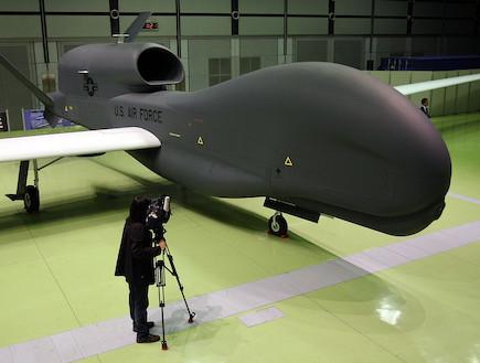 "RQ-4 גלובל הוק-מל""טים (צילום: Koichi Kamoshida, GettyImages IL)"