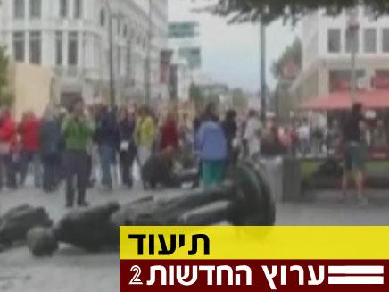 צפו בתיעוד רעידת האדמה (צילום: חדשות 2)