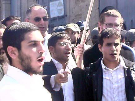 הפגנה ביפו פעילי ימין (צילום: חדשות 2)