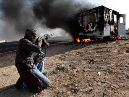 מהפכה בלוב (צילום: AP)