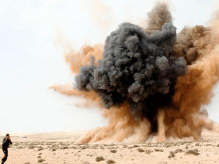 הפצצה של מטוסי קרב (צילום: רויטרס)