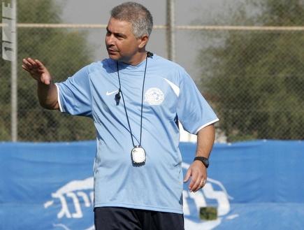 פרדי דוד באימון הקבוצה. מצפים לניצחון על אשקלון  (אמיר לוי) (צילום: מערכת ONE)