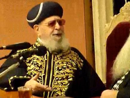 """הרב עובדיה: """"להתפלל להשמדת אירן"""" (צילום: חדשות 2)"""
