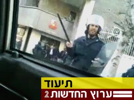 צפו בתיעוד העימותים, היום בטהרן (צילום: חדשות 2)