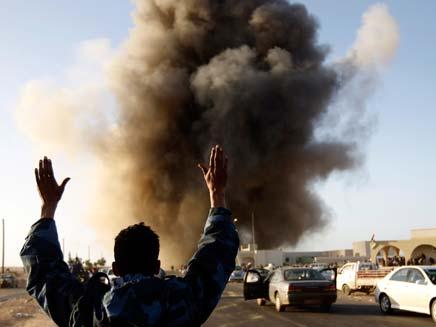 הפצצה בלוב (צילום: חדשות 2)