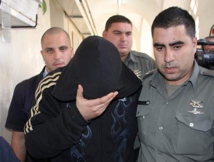 האוהד מובא לדיום בהארכת מעצרו, היום (גיא בן זיו) (צילום: מערכת ONE)