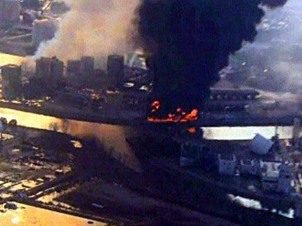 פיצוץ עז הורגש ברדיוס של קילומטרים. אילוסטרציה (צילום: חדשות 2)