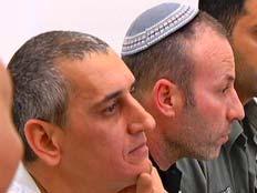 מישל ז'אנו וקובי גנון, היום בבית המשפט (צילום: חדשות 2)