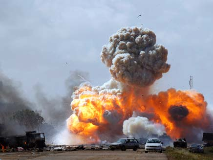 הפצצה בלוב. ארכיון (צילום: רויטרס)