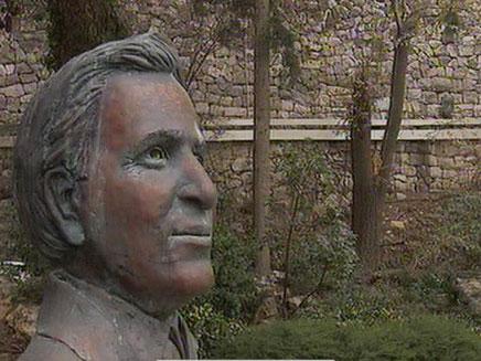 האם הפסל יישאר בבית הנשיא? (צילום: חדשות 2)