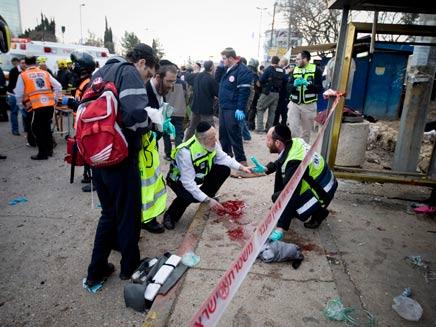 הטרור חזר לירושלים, השבוע (צילום: AP)