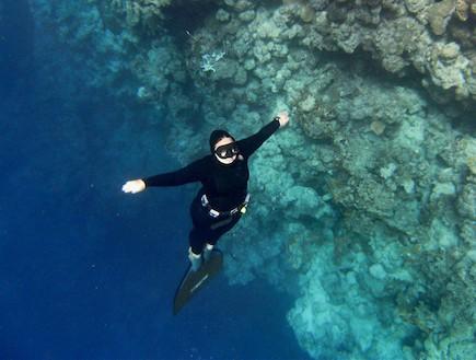 צלילה חופשית - אלינה ציבקין (צילום: אלינה ציבקין)