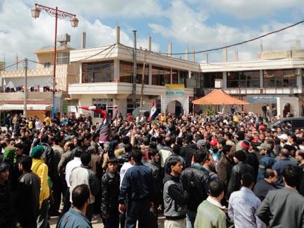 הפגנות בסוריה (צילום: חדשות 2)