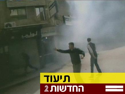 ירי באש חיה על מפגינים בסוריה (צילום: חדשות 2)