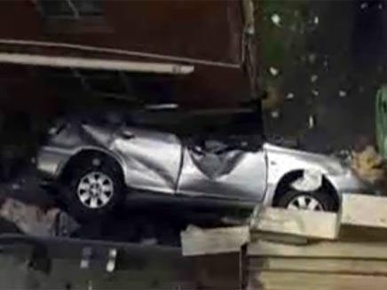 הרכב אחרי הנפילה (צילום: יוטיוב)