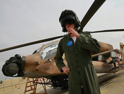 טייס ישראלי, מסוק אפצ'י (צילום: David Silverman, GettyImages IL)