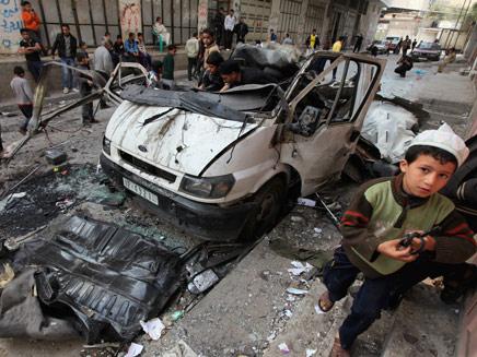 עזה אחרי תקיפת חיל האוויר (צילום: Reuters)