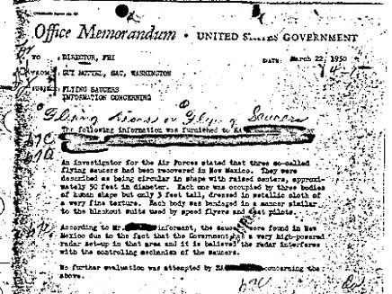 המסמך, כפי שפורסם באתר FBI (צילום: אף בי איי)