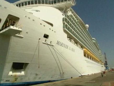 ספינת הפאר הגדולה ביותר שהגיעה אי פעם לישראל (צילום: חדשות 2)