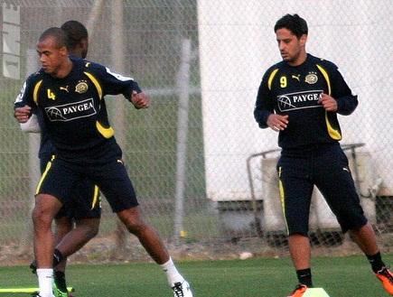 ברק יצחקי וניבאלדו רצים באימון (ליאור טימור) (צילום: מערכת ONE)