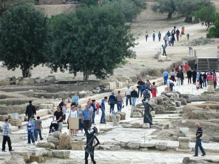 אלפים פוקדים את את הפארקים והאתרים, ארכיון (צילום: מיטל אהרן, רשות הטבע והגנים)