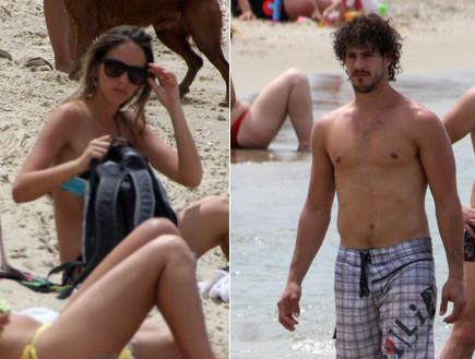 איילה וטומי בחוף הכלבים פפראצי (צילום: אלעד דיין)