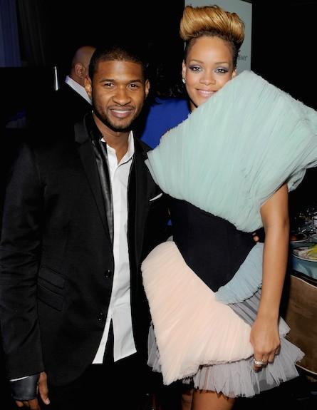 ריהאנה ואשר (צילום: Larry Busacca, GettyImages IL)