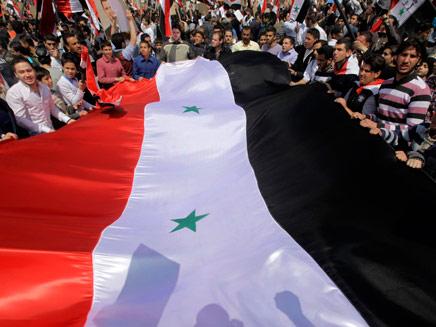 """""""האופציה הצבאית קיימת"""". הפגנות בסוריה, ארכיון (צילום: AP)"""
