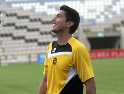 קרלוס אריאס. ימשיך בנתניה בעונה הבאה? (דרור עינב) (צילום: מערכת ONE)