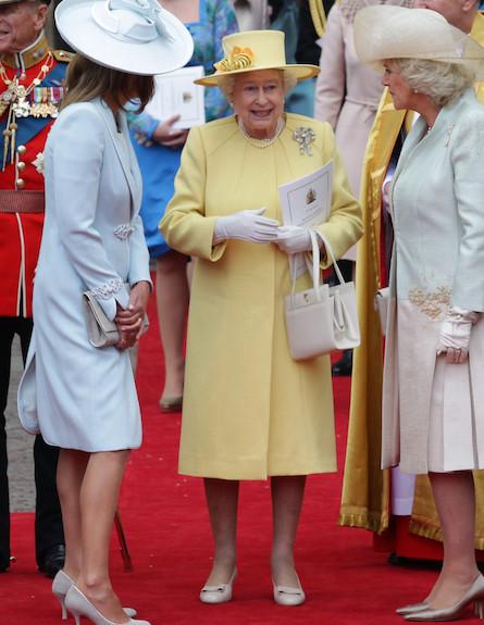 המלכה אליזבת' בחתונה המלכותית (צילום: Chris Jackson, GettyImages IL)