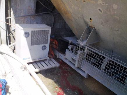 פועל נהרג בתאונת עבודה באשקלון (צילום: חדשות 24)