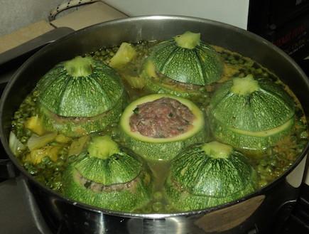 קישואים ממולאים של סמדי - לפני הבישול (צילום: סמדר וקנין)