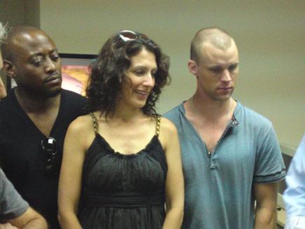 קאדי, צ'ייס ופורמן, היום בבית החולים (צילום: חדשות 2)