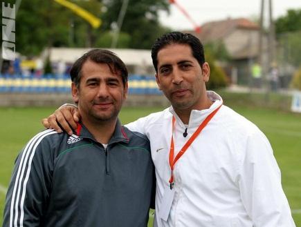 פישונט ומאמן טוברוק, יוני ועקנין (בעז גורן) (צילום: מערכת ONE)