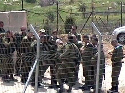 """סגן הרמטכ""""ל בגבול סוריה, היום (צילום: חדשות 2)"""