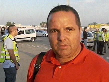 רן בן שמעון נמל תעופה בן גוריון (צילום: חדשות 2)