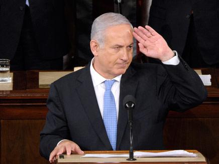 נתניהו בנאום המדיני בקונגרס (צילום: AP)
